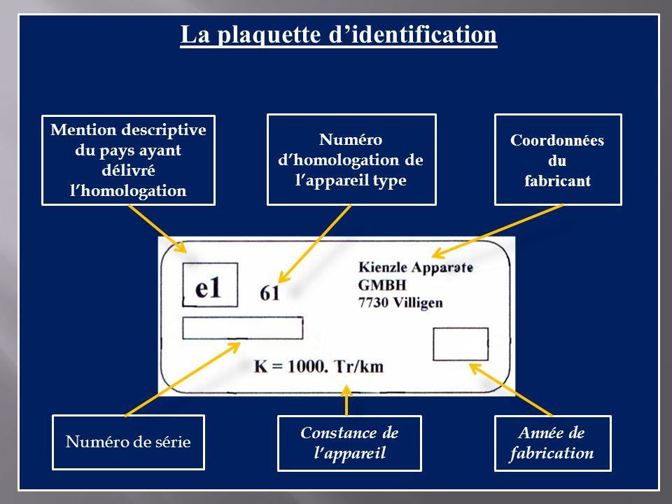 La plaquette d'identification