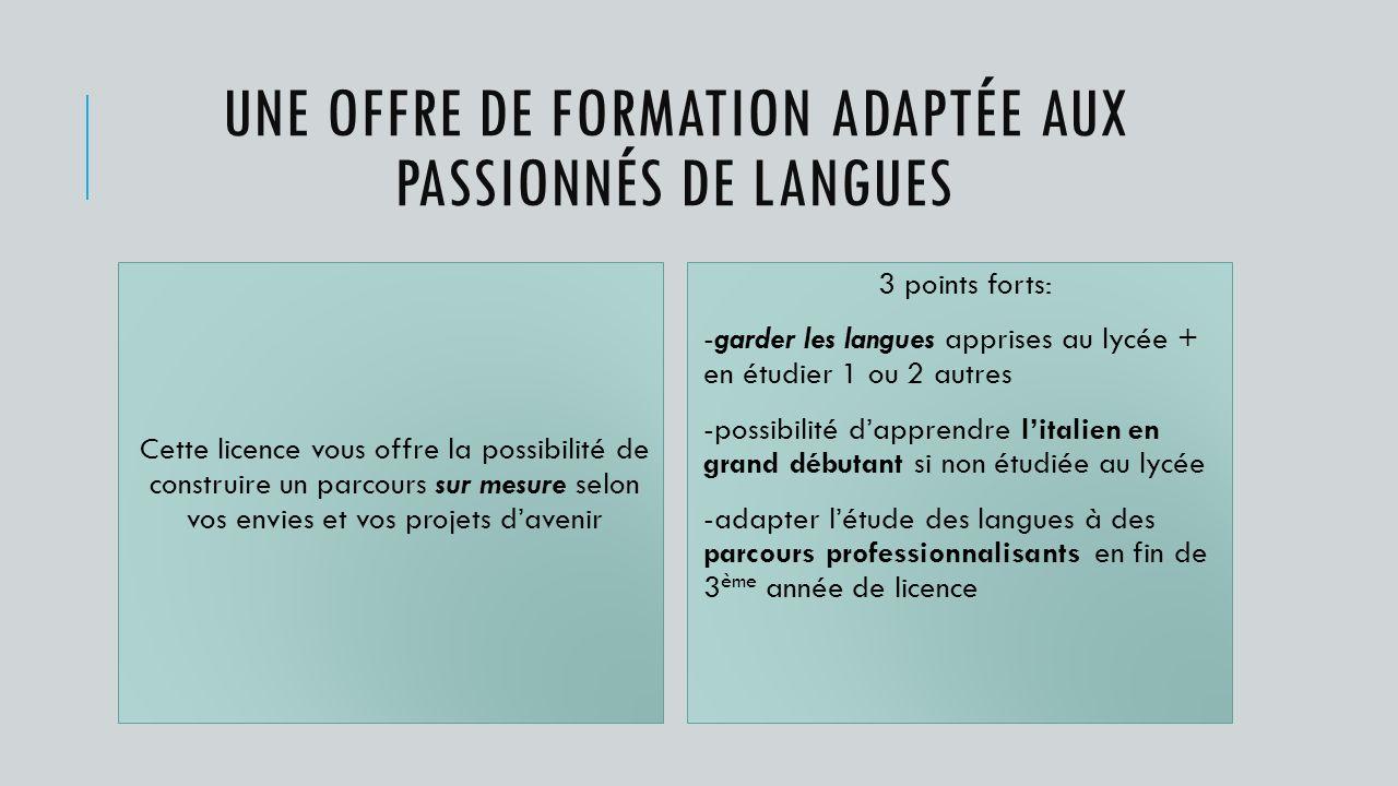 Une offre de formation adaptée aux passionnés de langues