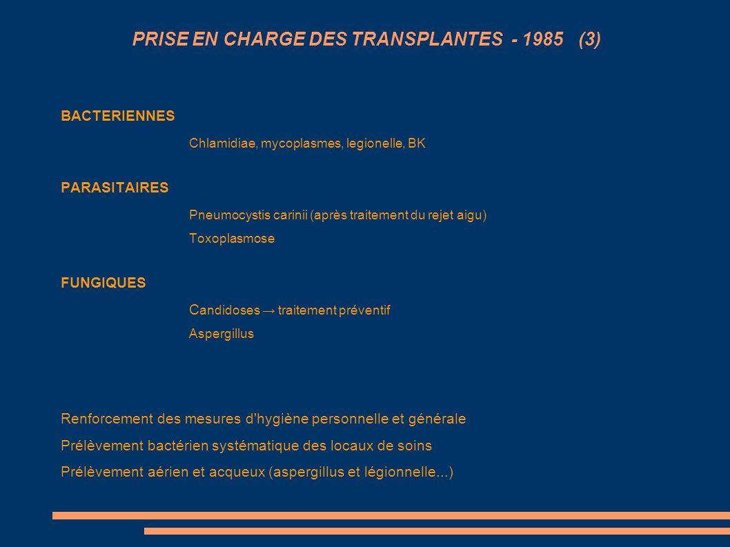 PRISE EN CHARGE DES TRANSPLANTES - 1985 (3)