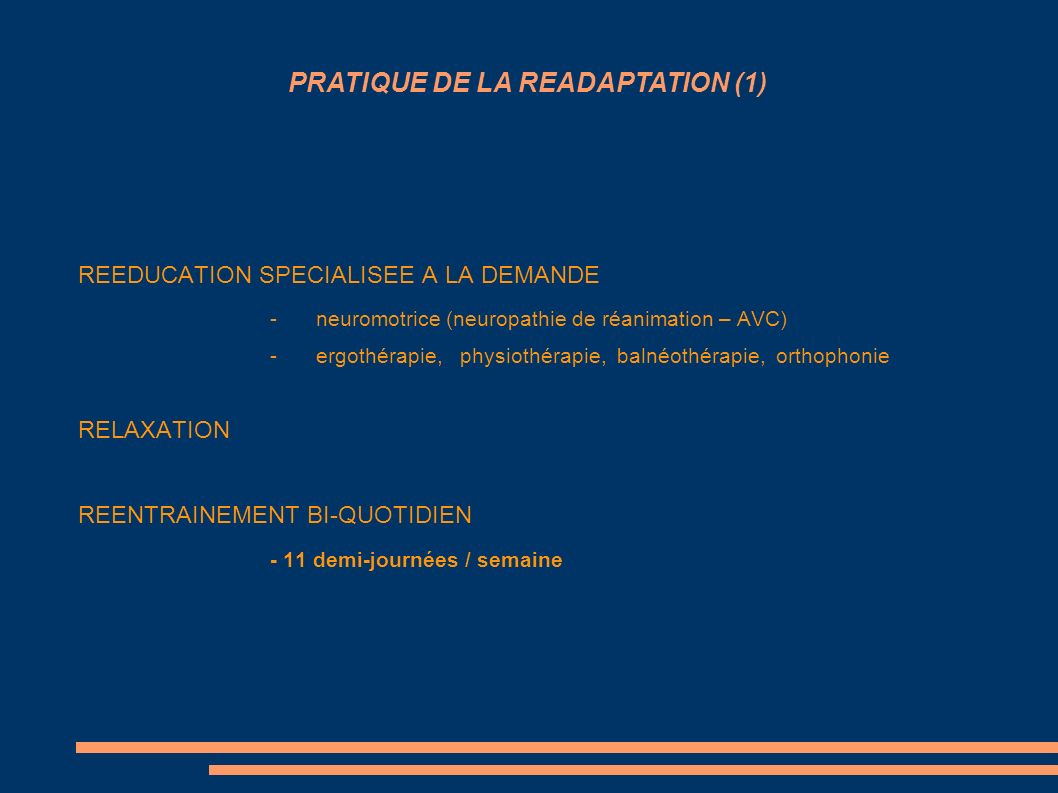 PRATIQUE DE LA READAPTATION (1)