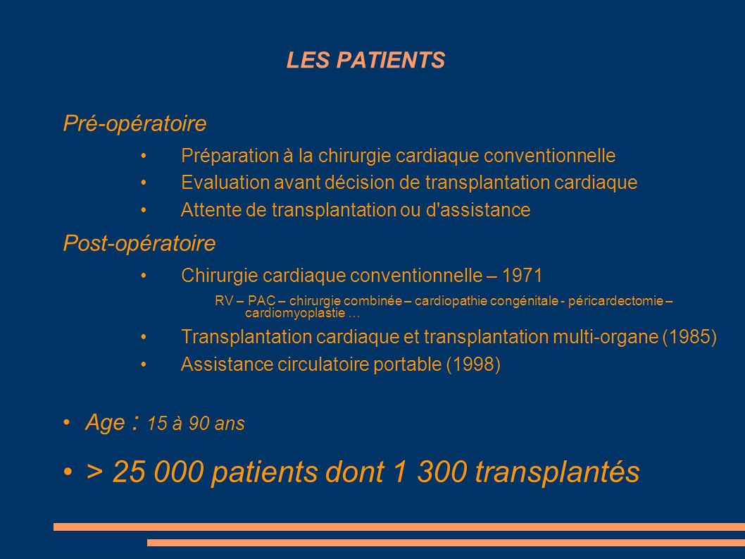 > 25 000 patients dont 1 300 transplantés