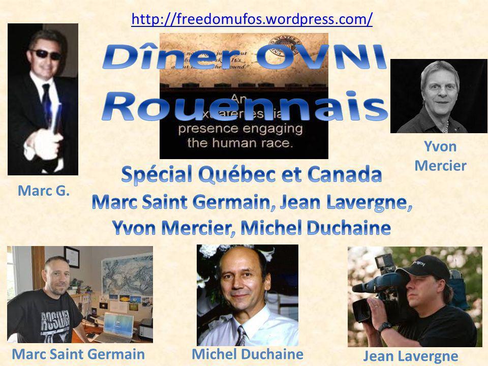 Dîner OVNI Rouennais Spécial Québec et Canada