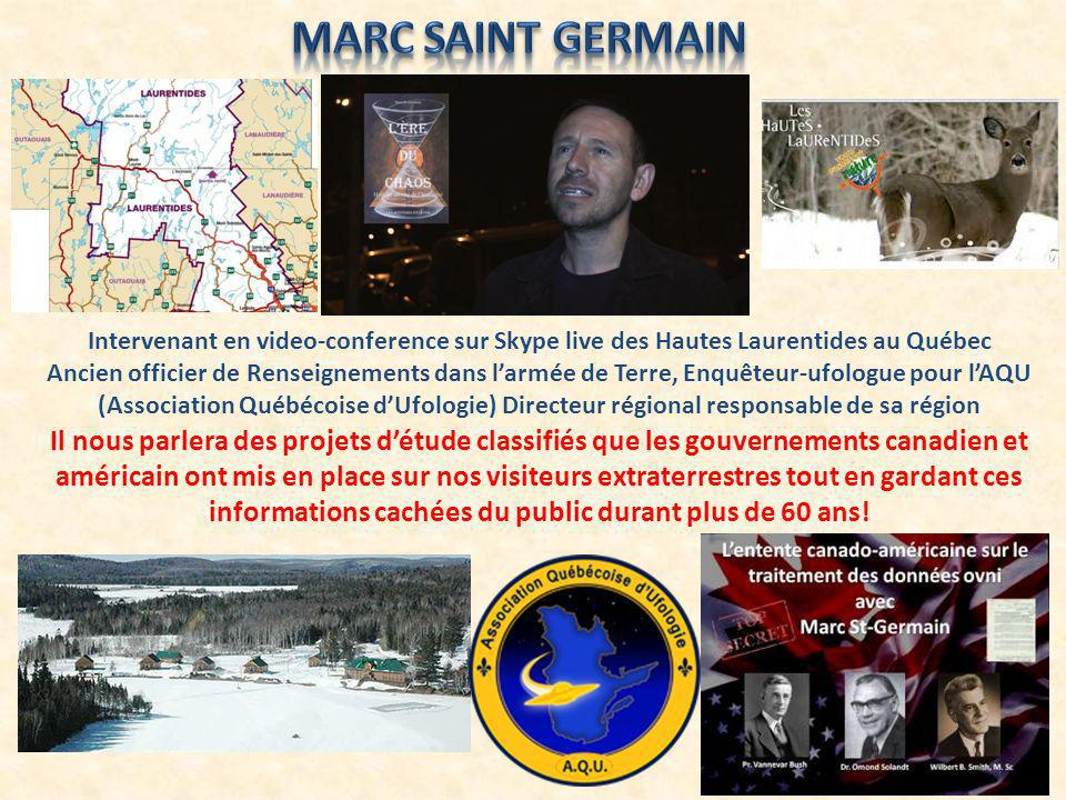 Marc Saint Germain Intervenant en video-conference sur Skype live des Hautes Laurentides au Québec.