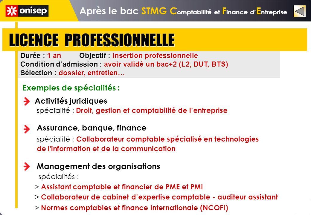 Après le bac STMG Comptabilité et Finance d'Entreprise