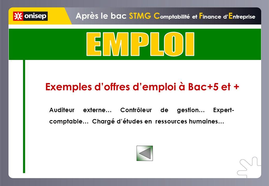 EMPLOI Exemples d'offres d'emploi à Bac+5 et +