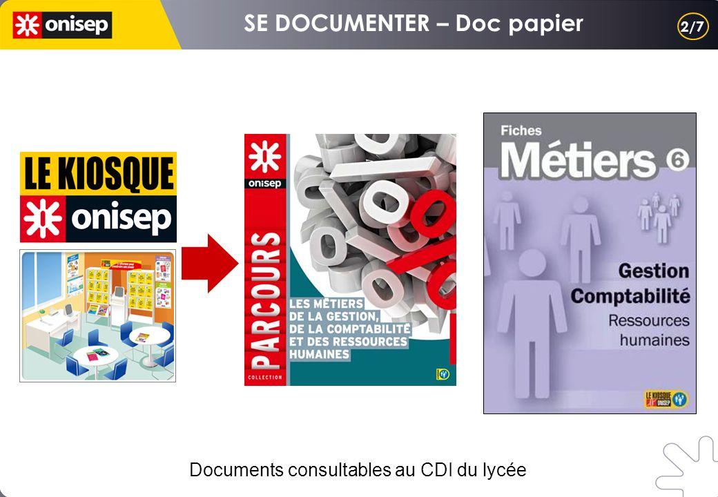 SE DOCUMENTER – Doc papier