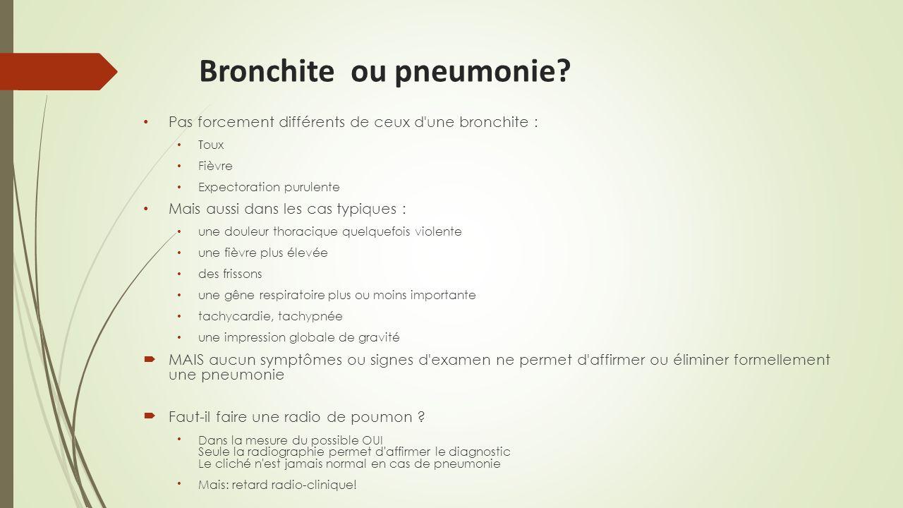 Bronchite ou pneumonie