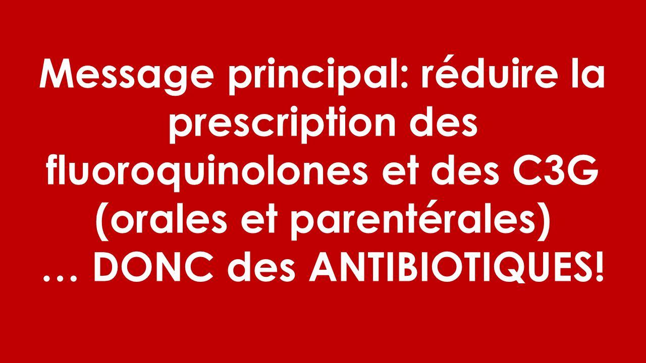 … DONC des ANTIBIOTIQUES!