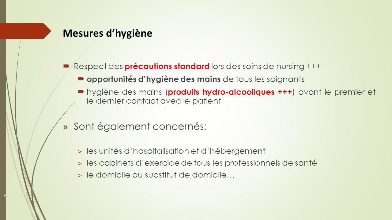 Mesures d'hygiène Sont également concernés: