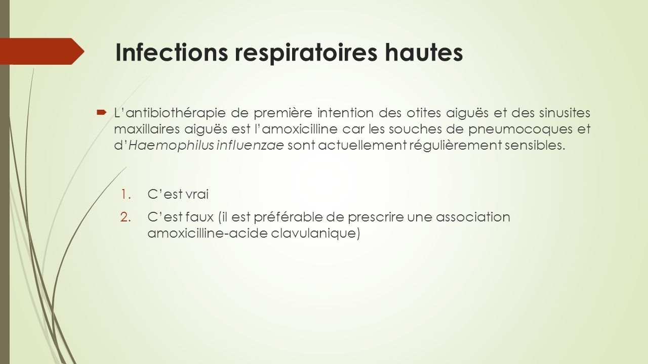 Infections respiratoires hautes
