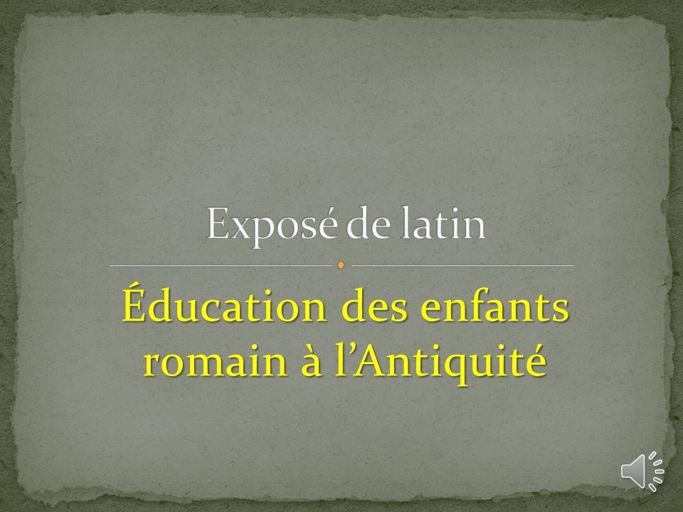 Éducation des enfants romain à l'Antiquité