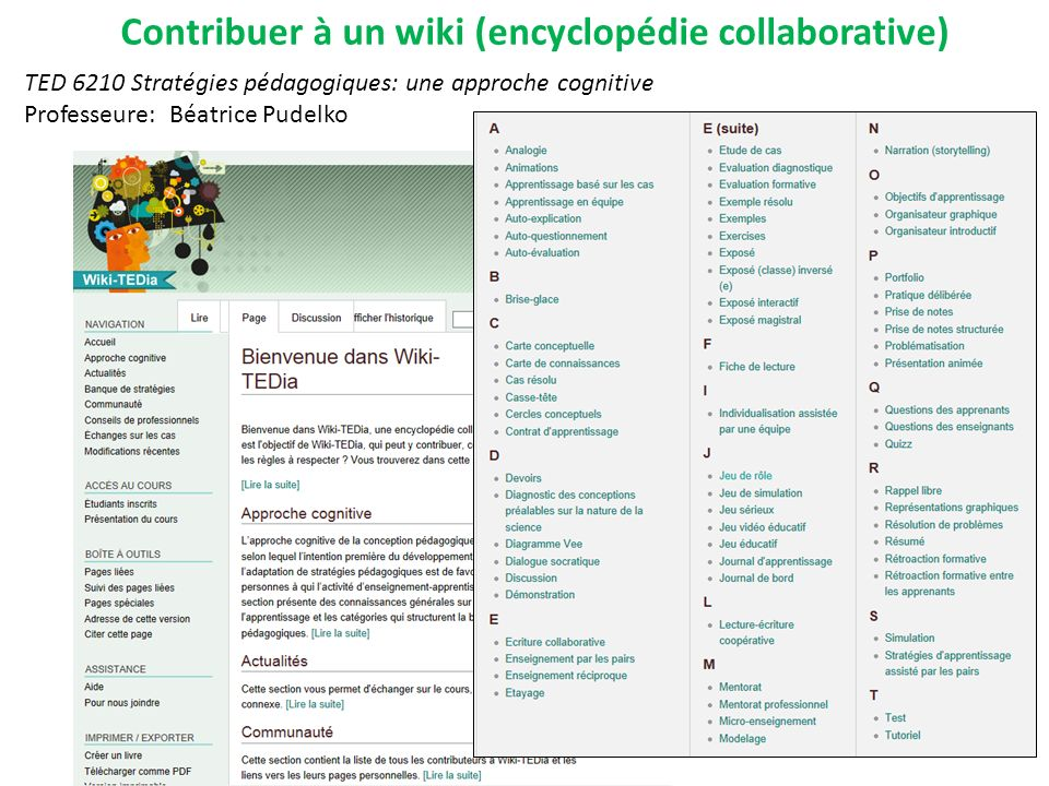 Contribuer à un wiki (encyclopédie collaborative)