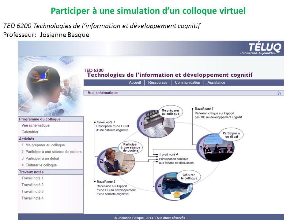 Participer à une simulation d'un colloque virtuel