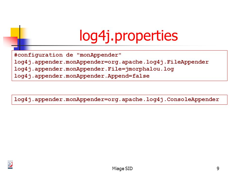 log4j.properties #configuration de monAppender