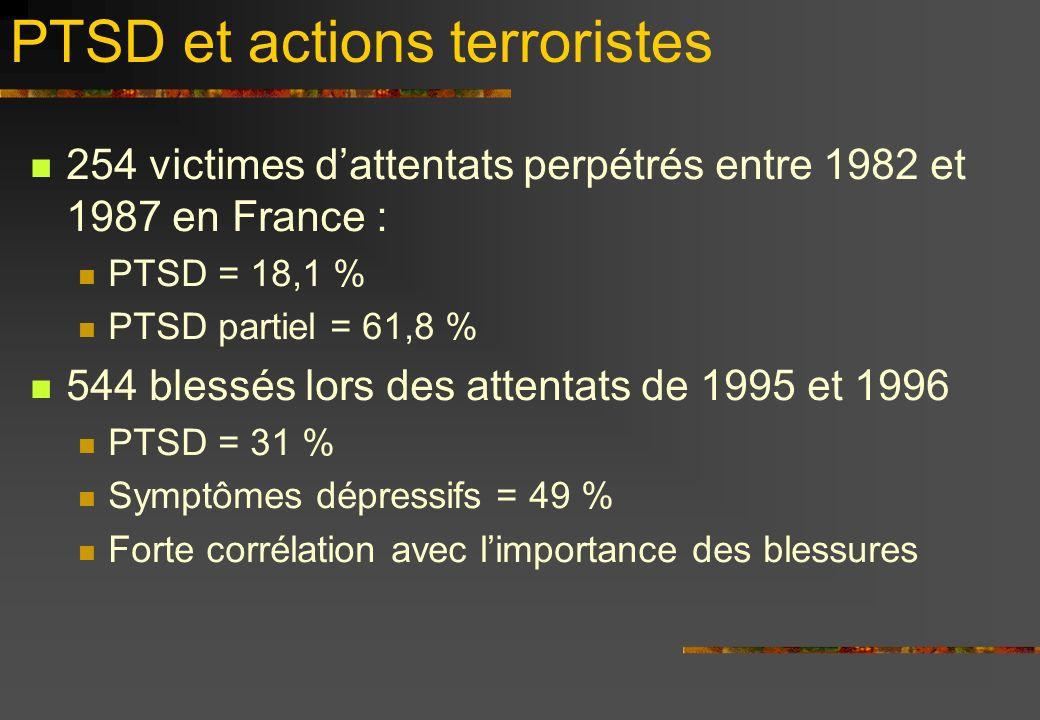 PTSD et actions terroristes