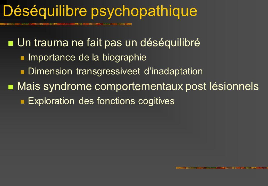 Déséquilibre psychopathique