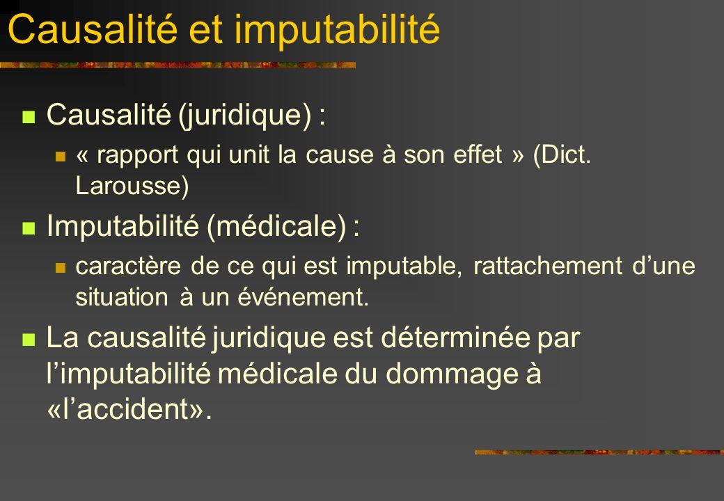 Causalité et imputabilité