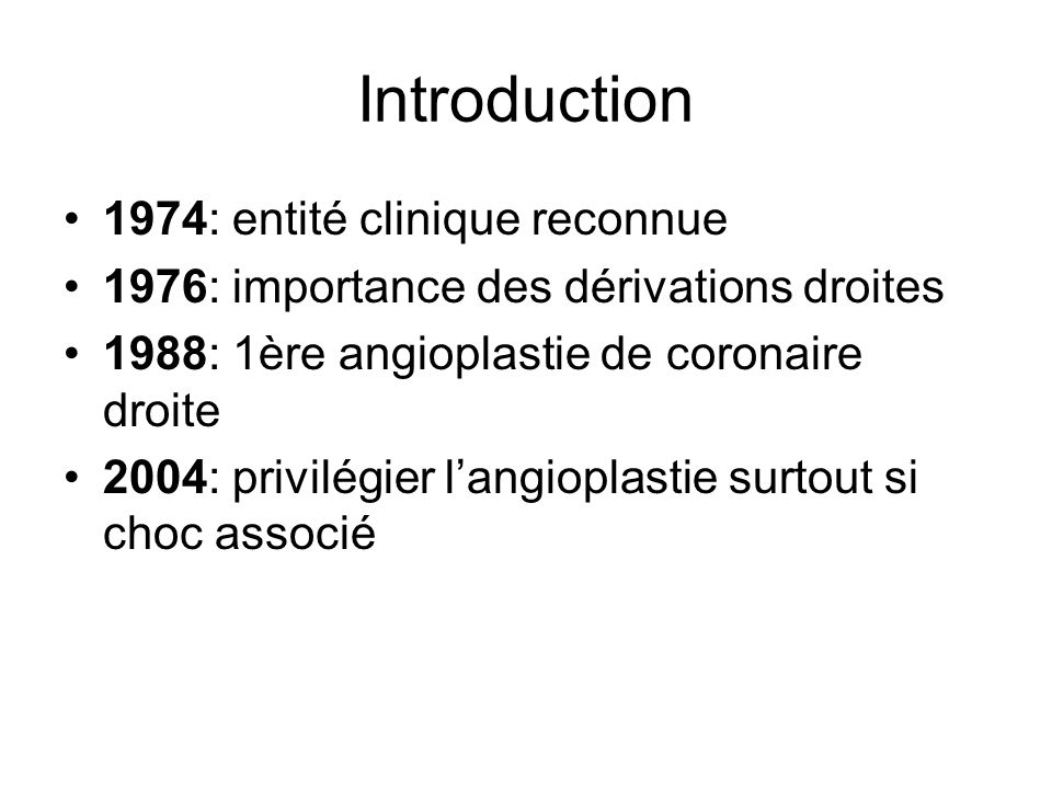 Introduction 1974: entité clinique reconnue