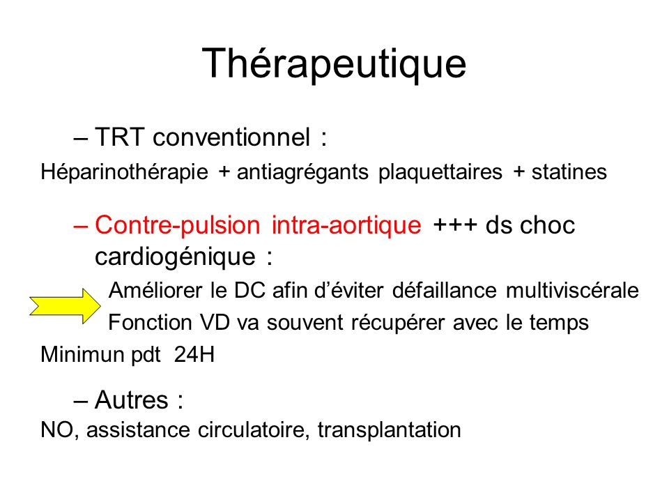 Thérapeutique TRT conventionnel :
