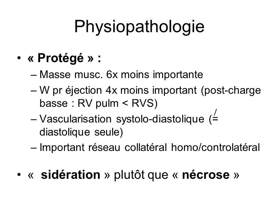 Physiopathologie « Protégé » : « sidération » plutôt que « nécrose »