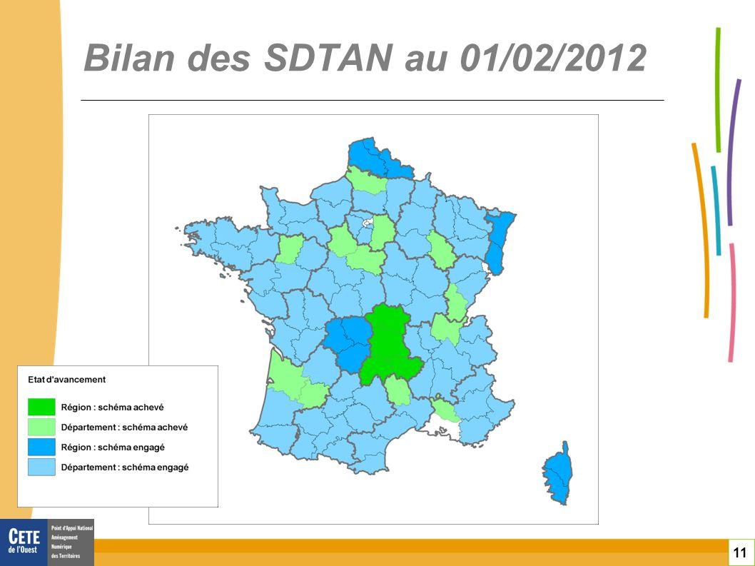 Bilan des SDTAN au 01/02/2012 toitototototoot