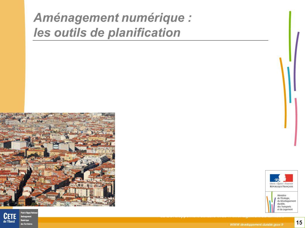 Aménagement numérique : les outils de planification