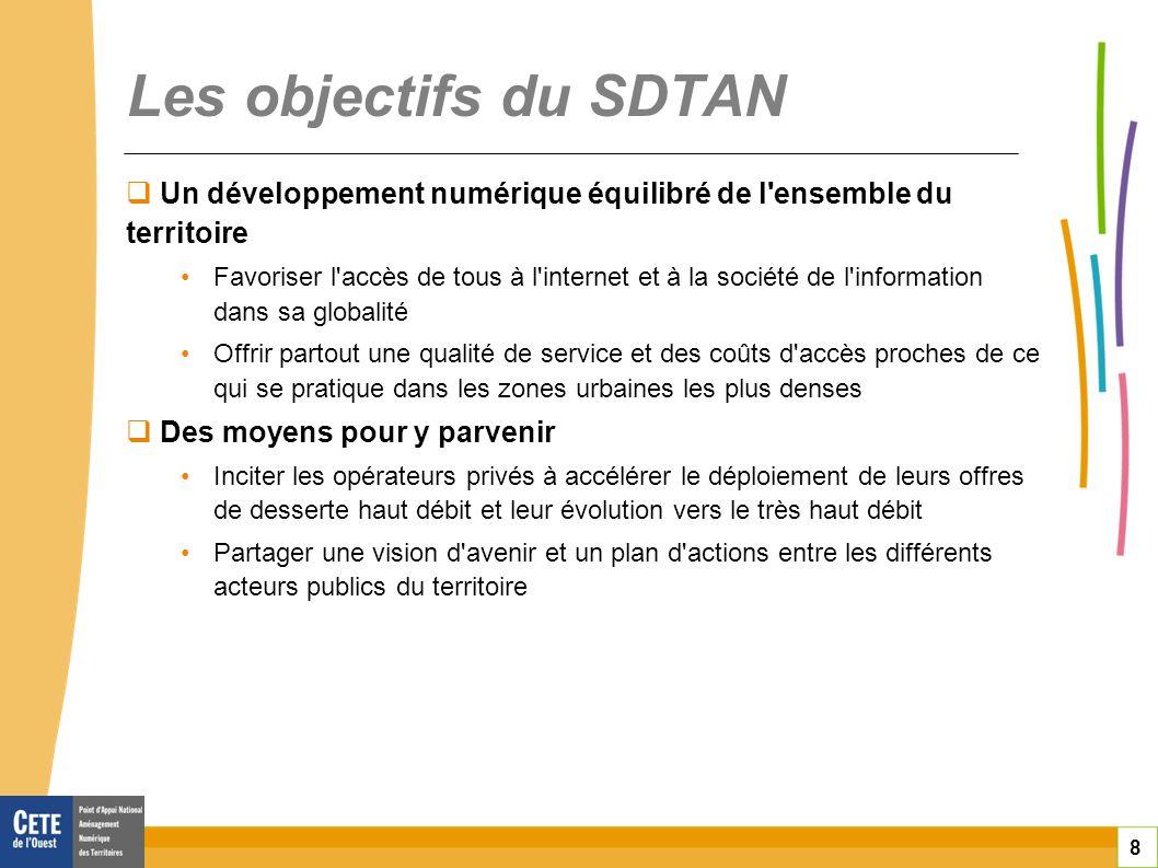 toitototototoot Les objectifs du SDTAN. Un développement numérique équilibré de l ensemble du territoire.