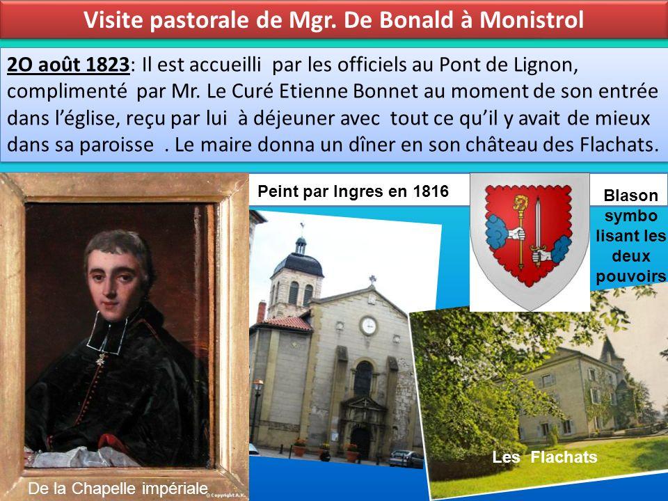 Visite pastorale de Mgr. De Bonald à Monistrol