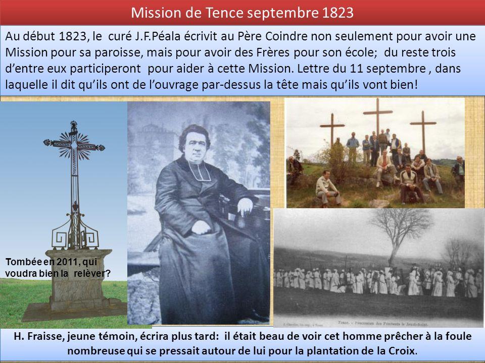 Mission de Tence septembre 1823