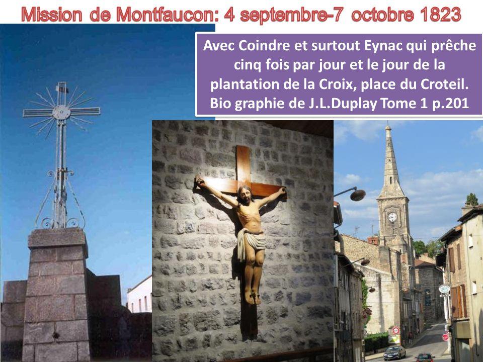 Mission de Montfaucon: 4 septembre-7 octobre 1823