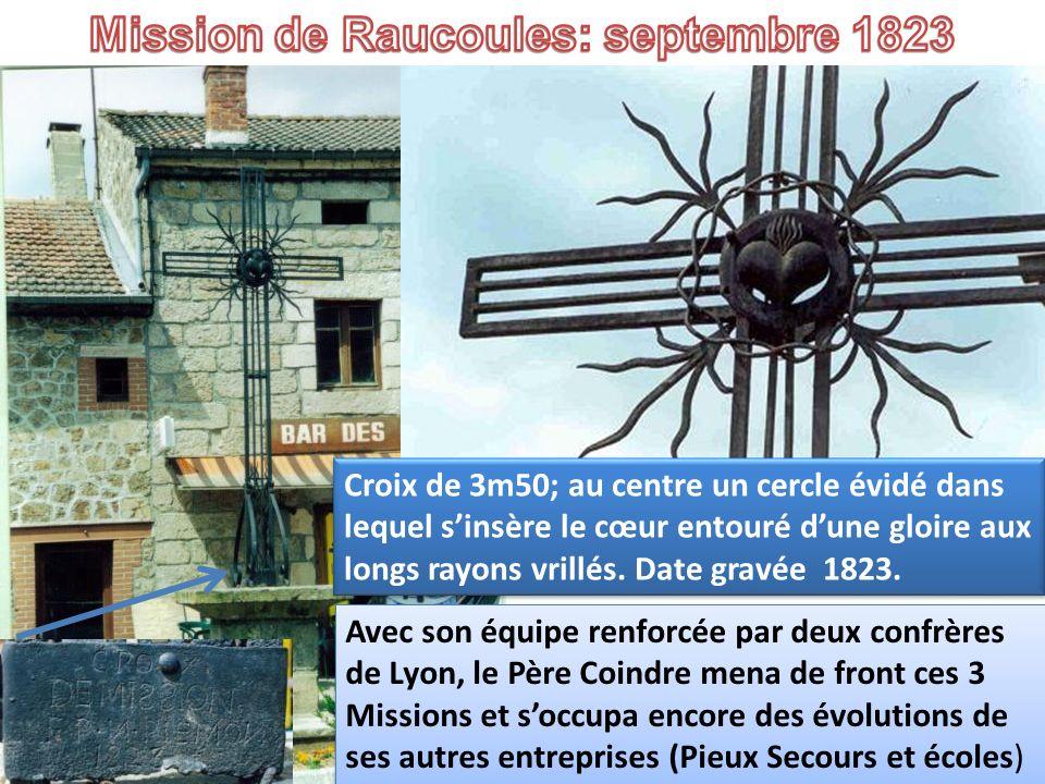 Mission de Raucoules: septembre 1823