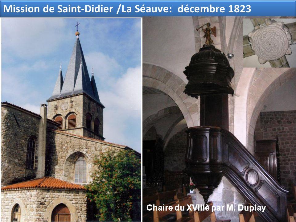 Mission de Saint-Didier /La Séauve: décembre 1823