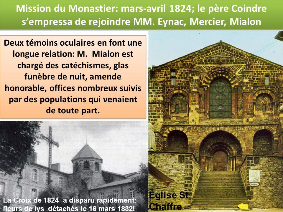 Mission du Monastier: mars-avril 1824; le père Coindre