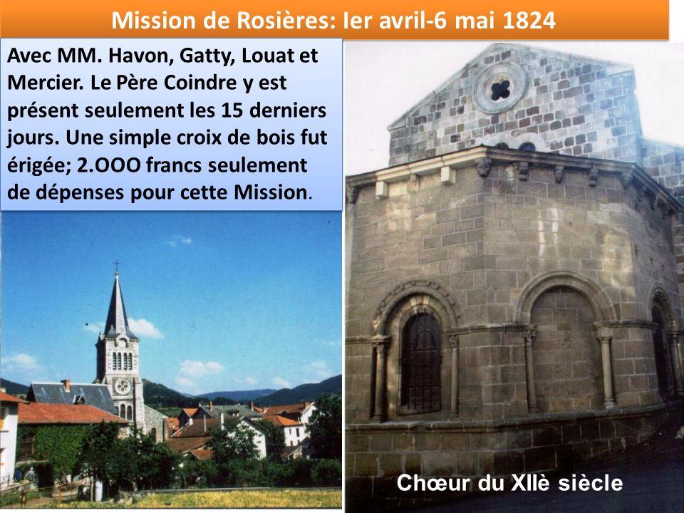 Mission de Rosières: Ier avril-6 mai 1824
