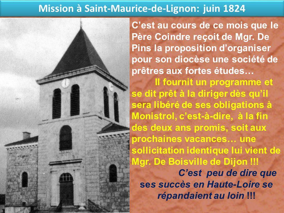 Mission à Saint-Maurice-de-Lignon: juin 1824