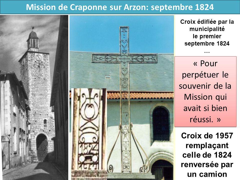 Mission de Craponne sur Arzon: septembre 1824