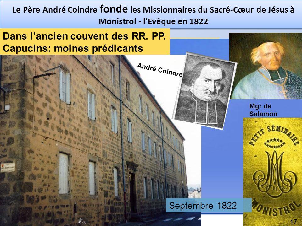 Dans l'ancien couvent des RR. PP. Capucins: moines prédicants
