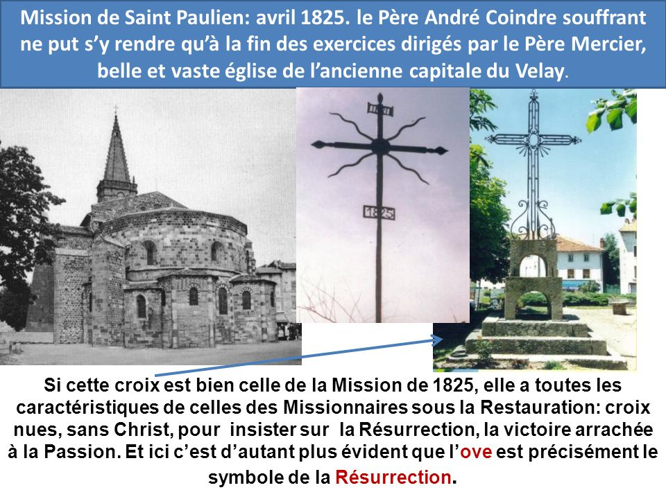 Mission de Saint Paulien: avril 1825