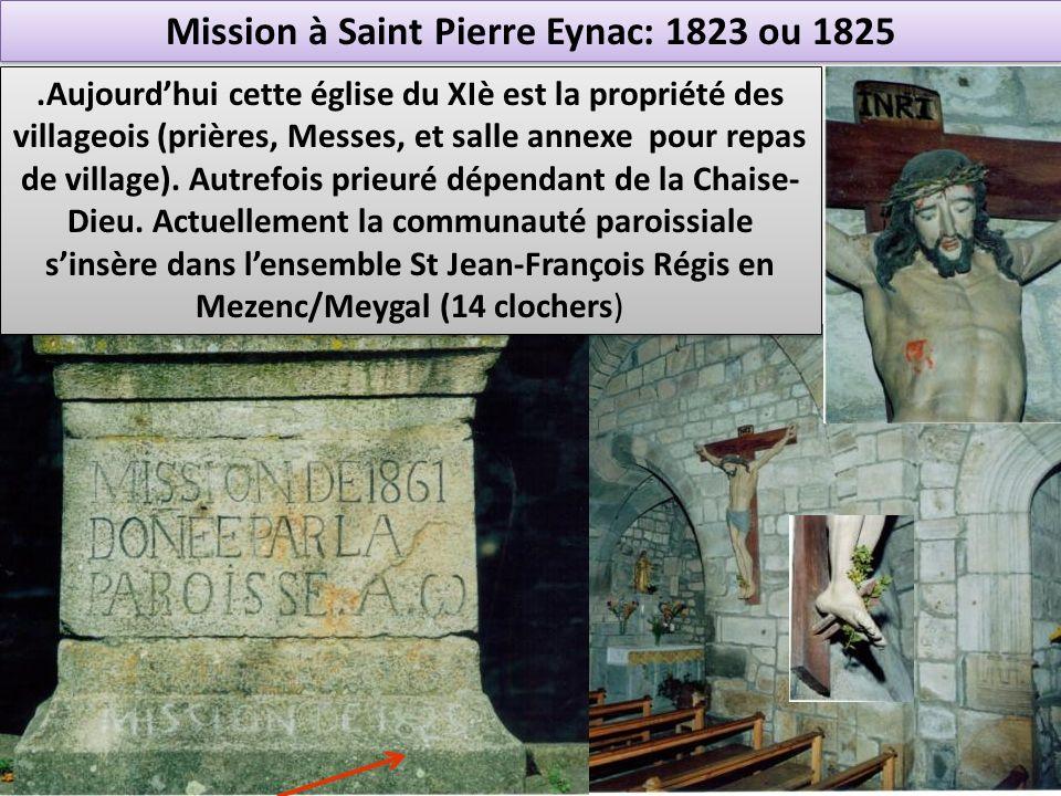 Mission à Saint Pierre Eynac: 1823 ou 1825