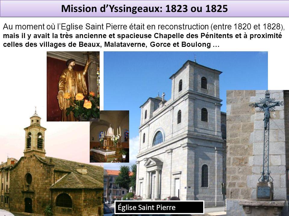 Mission d'Yssingeaux: 1823 ou 1825