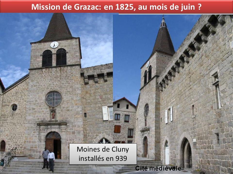 Mission de Grazac: en 1825, au mois de juin