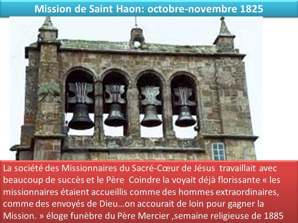 Mission de Saint Haon: octobre-novembre 1825