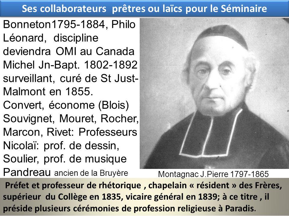 Ses collaborateurs prêtres ou laïcs pour le Séminaire