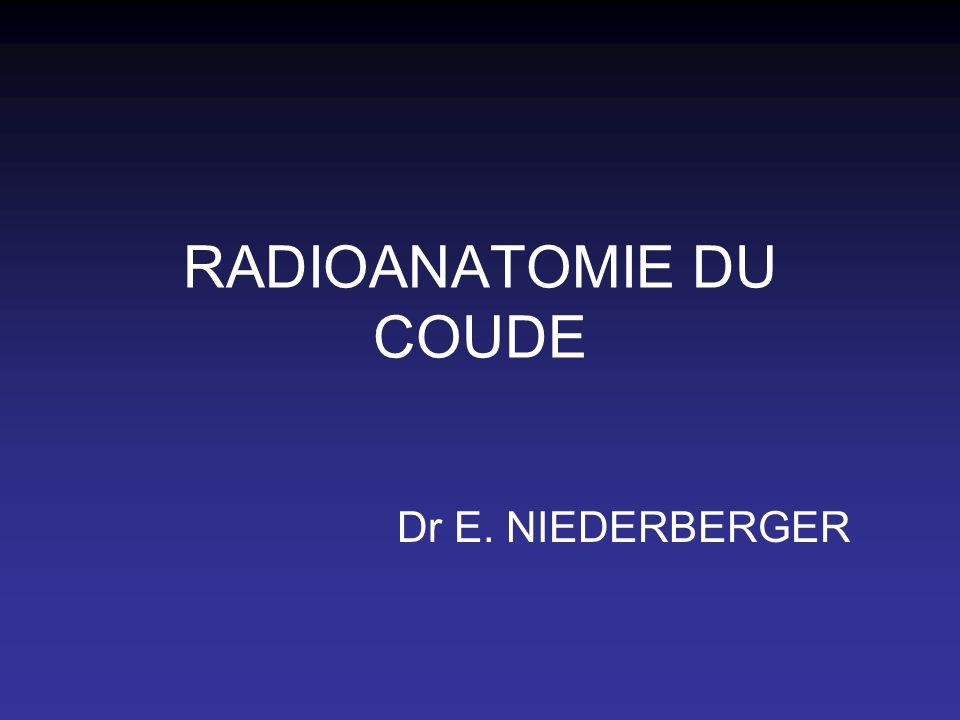 RADIOANATOMIE DU COUDE