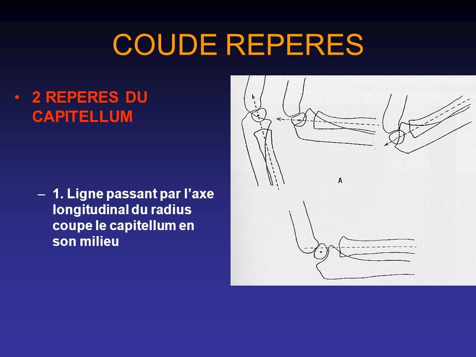 COUDE REPERES 2 REPERES DU CAPITELLUM