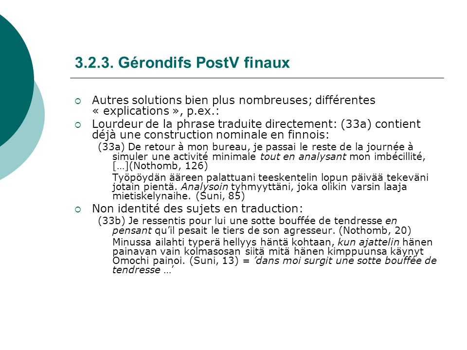 3.2.3. Gérondifs PostV finaux