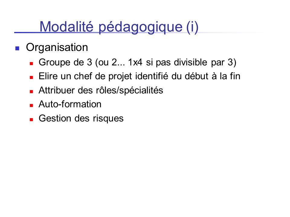 Modalité pédagogique (i)