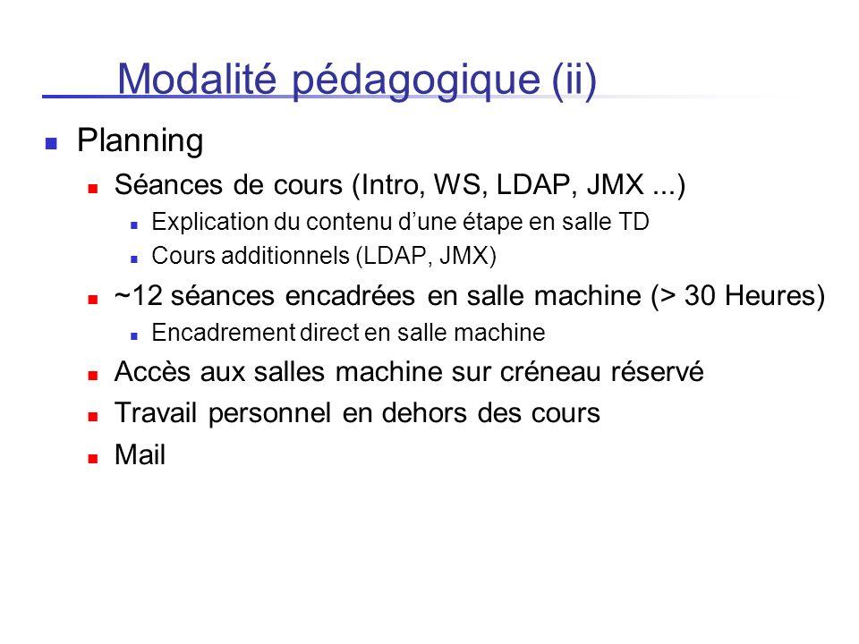 Modalité pédagogique (ii)