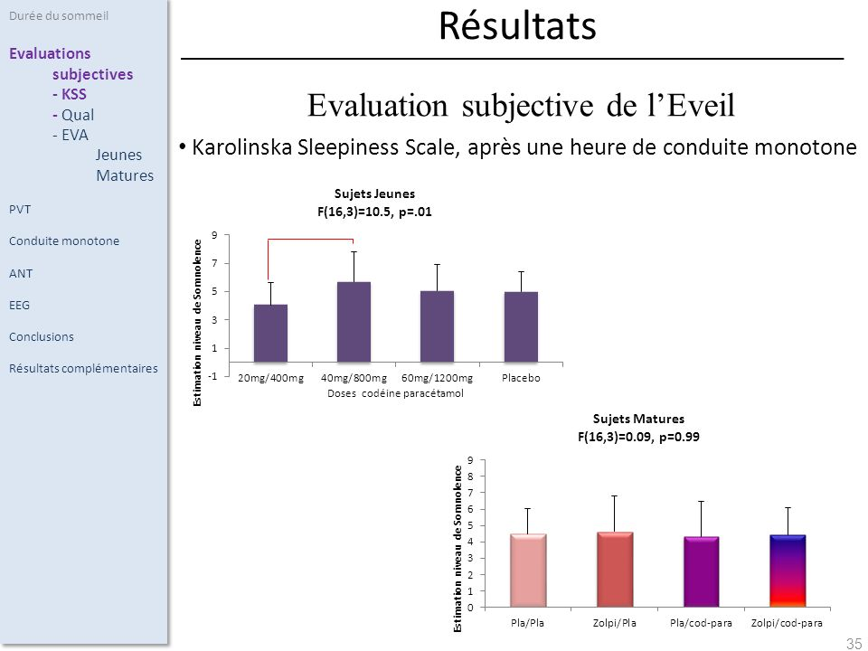 Evaluation subjective de l'Eveil
