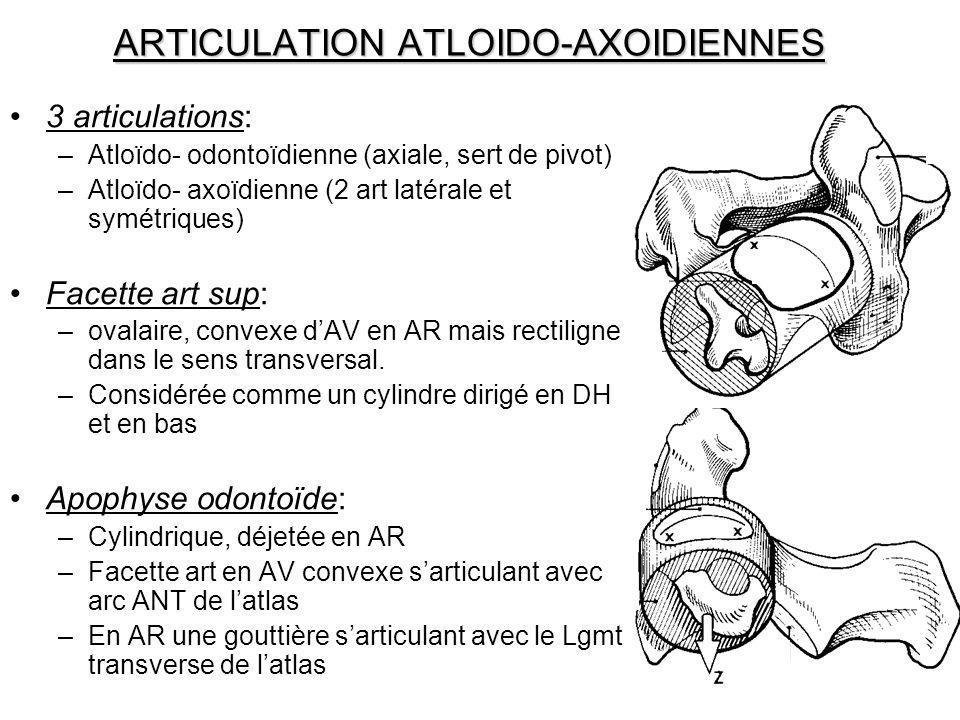 ARTICULATION ATLOIDO-AXOIDIENNES